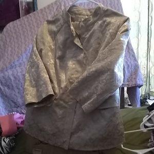 Zipper jacket 3/4 sleeve